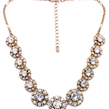 Sparkle Clear Crystal Statement Necklace