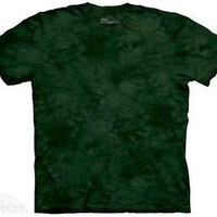M. Balsam Solid Color Green Tie Dye T-Shirt