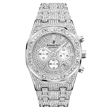 Audemars Piguet full diamond quartz watch for men and women #3