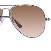 Cheap Ray Ban RB3025 004/51 58M Gunmetal/ Brown Gradient Aviator outlet