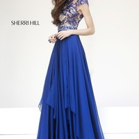 Sherri Hill 1933 Cap Sleeve Prom Dress