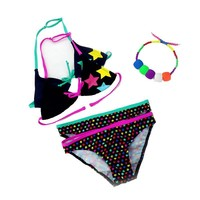 Summer Bathing Suit Girls split Two-pieces Swimwear, Children Cute Star Pattern Split Bikini Girls Swimsuit