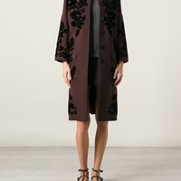 Dolce & Gabbana Floral Embroidered Coat - Luisa Boutique - Farfetch.com