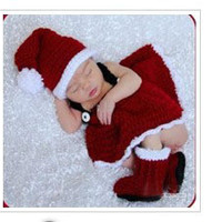 Newborn Baby Girls Boys Crochet Knit Costume Photo Photography Prop = 4457575684