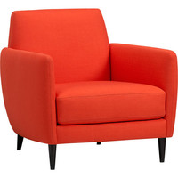 parlour atomic orange chair in all furniture | CB2