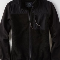 AEO Men's Faux Sherpa & Fleece Jacket
