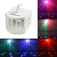 WOWTOU 18W Super Bright Speed Adjustable Voice-activated 6 Colors Multi-lens LED Party Disco Stage Dance Club DJ Lighting LED Strobe Light = 1945739460