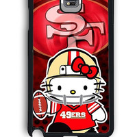 Samsung Galaxy Note 4 Case - Hard (PC) Cover with 49ers Hello Kitty Plastic Case Design