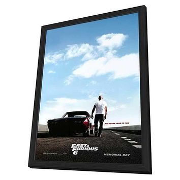 Fast & Furious 6 27x40 Framed Movie Poster (2013)