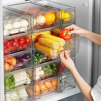 Refrigerator Fresh-Keeping Freezer Storage Box Drawer Kitchen Storage Food Food Organizing Storage Egg Box