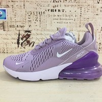 Nike Air Max 270 Women Light Purple Sport Running Shoes - Best Online Sale