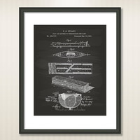 Canoe Boat 1881 Patent Art Illustration - Drawing - Printable INSTANT DOWNLOAD - Get 5 Colors Background