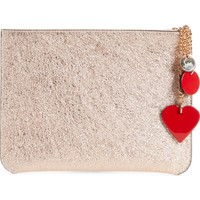 Christian Louboutin Loubicute Leather Pouch with Charms | Nordstrom