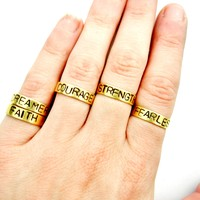 Positive Mantra Rings