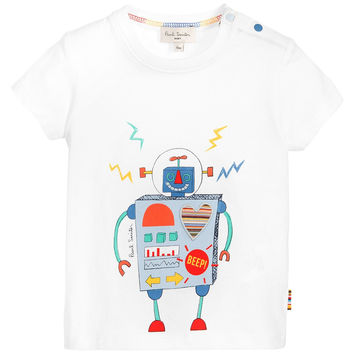 Paul Smith Baby Boys White 'Robot' T-Shirt