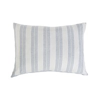 Carter Ivory & Denim Big Pillow by Pom Pom at Home