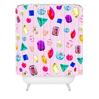 Natalie Baca Rhinestone Reverie In Pink Shower Curtain