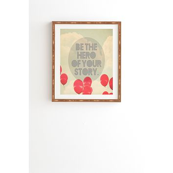 Maybe Sparrow Photography Be The Hero Framed Wall Art
