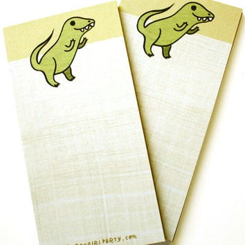 Yellow T-Rex Notepad