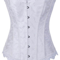 White Overbust Corset Top