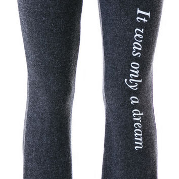 Wildfox Couture It Was Only A Dream Track Pants Clean Black
