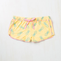 Sprout of Bed, Sleepyhead! Sleep Shorts in Pineapples | Mod Retro Vintage Underwear | ModCloth.com
