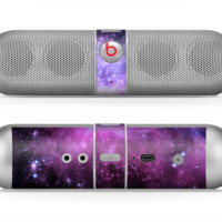 The Purple Space Neon Explosion Skin for the Beats by Dre Pill Bluetooth Speaker