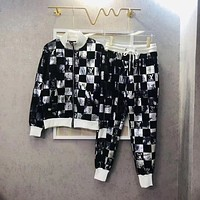 LV Louis Vuitton autumn and winter new color casual sports suit two-piece