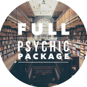 Full Psychic PACKAGE, Tarot Reading, Crystal Ball Reading, Akashic Records Decoding, Psychic Reading, Deal, accurate and in-depth readings