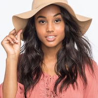Felt Womens Floppy Hat Camel One Size For Women 25705141001