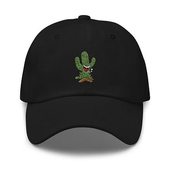 Cactus Embroidered Strapback Dad Hat