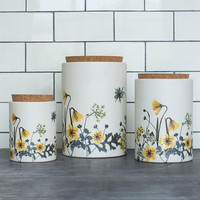 Flower Field Storage Canister