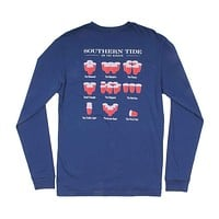 Rerack 2.0 Long Sleeve T-Shirt in Yacht Blue by Southern Tide