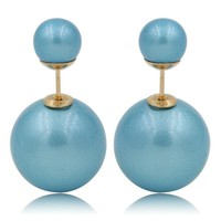Gum Tee Mise en Style Tribal Earrings - Venetian Aquamarine