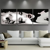 Canvas HD Prints Pictures Wall Art Abstract Posters 3 Pieces Sexy Marilyn Monroe Paintings Home Decor For Living Room Framework
