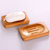 Hot Worldwide Natural Bamboo Wood Soap Dish Storage Holder Bath Shower Plate Bathroom