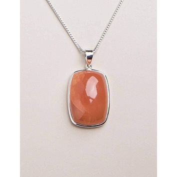 Carnelian Square Pendant - One of a Kind