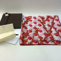 New Boxed Authentic Louis Vuitton Ramages Dots Stole Scarf Grenad M75674