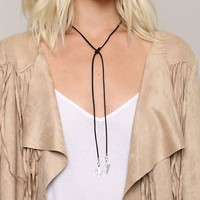 STRAIGHT AS AN ARROW WRAP NECKLACE