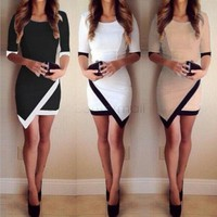 Women Sexy Bandage Bodycon Half Sleeve Evening Sexy Party Mini Dress Ladies Womens Brief Daily Dresses Clothing designer clothes