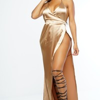 Isabella Dress - Champagne