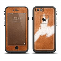 The Real Brown Cow Coat Texture Apple iPhone 6/6s LifeProof Fre Case Skin Set
