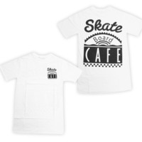 Skateboard Cafe — Skateboard Cafe Big Diner T-Shirt White