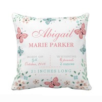 Customized Cushion cover for Nursery-Butterfly floral