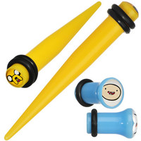 2 Gauge Acrylic Licensed Adventure Time Plug and Taper Set | Body Candy Body Jewelry