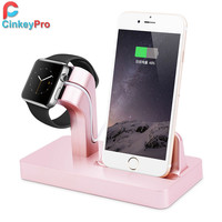 CinkeyPro Charger Dock For iPhone 5 6 6S Plus & Apple Watch Charger Smart USB Charging Mobile Phone Holder Stand Adapter Device