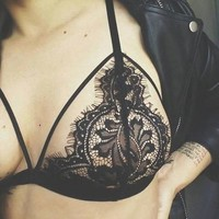 Cute On Sale Hot Deal Sexy Hollow Out Lace Bikini Exotic Lingerie [10236788172]
