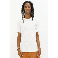 Basic Slub T-Shirt in White