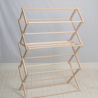 Pennsylvania Woodworks Large Wooden Clothes Drying Rack Made in the USA Heavy
