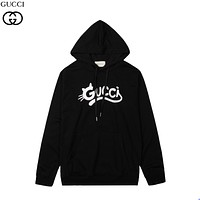 GG printed letter round neck pullover hoodie